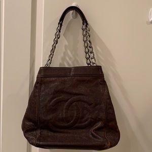 Brown Chanel Bucket Bag!